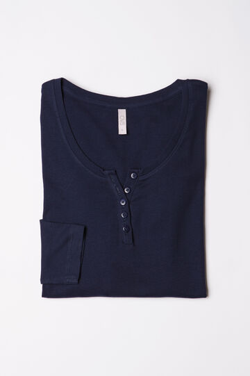 Pyjama top with button neck