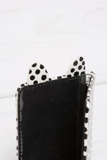 Polka dot pattern briefcase, Black/White, hi-res