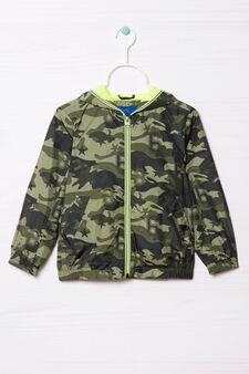 Giubbino stampa camouflage, Verde militare, hi-res