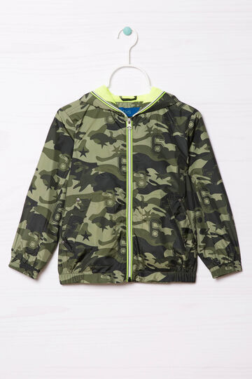 Camouflage print jacket, Army Green, hi-res