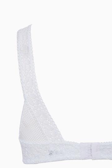 Lace triangle bra, White, hi-res