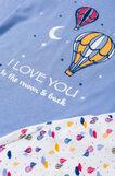 100% cotton pyjamas with hot-air balloon print, Light Blue, hi-res
