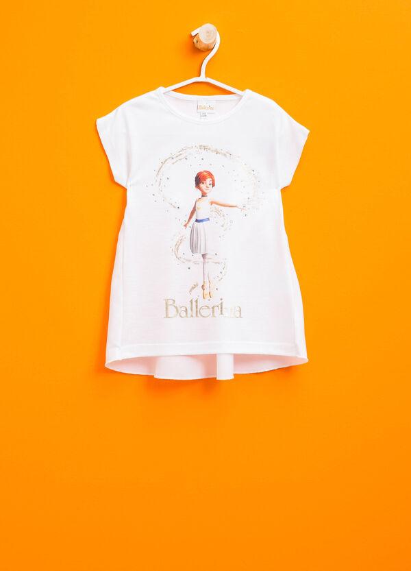 Camiseta de algodón con estampado de Ballerina | OVS