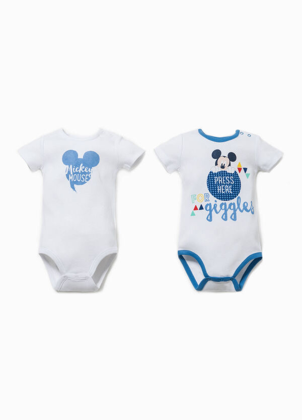 Two-pack Mickey Mouse bodysuits with short sleeves | OVS