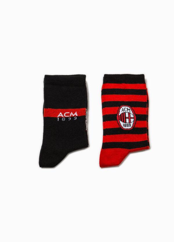 Set due paia di calze logo calcio | OVS