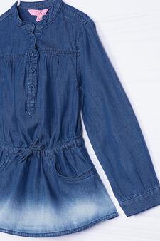 Camicia jeans effetto delavé, Denim, hi-res