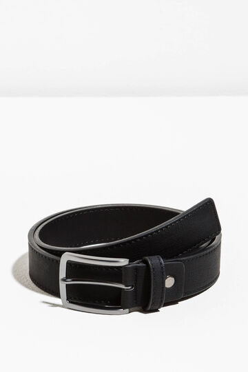 Belt with rectangular buckle
