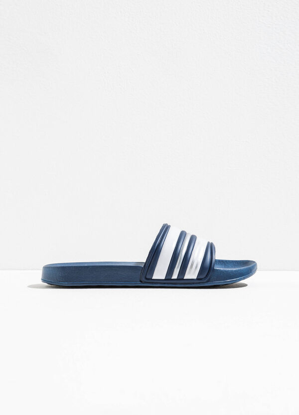 Rubber slippers with striped pattern | OVS