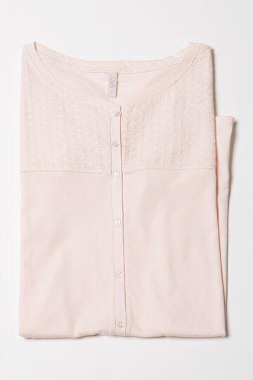 Camicia da notte in puro cotone, Rosa chiaro, hi-res