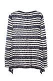 Smart Basic striped patterned T-shirt, White/Blue, hi-res