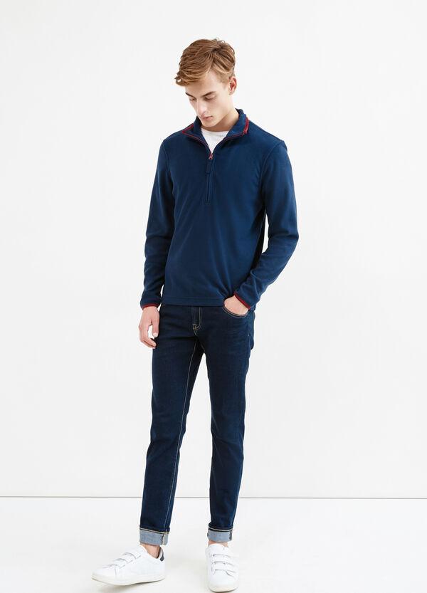 Fleece sweatshirt with high neck | OVS