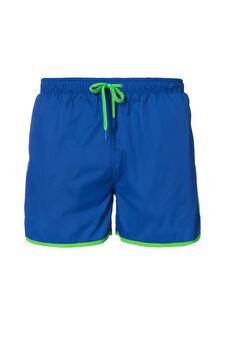 Swim boxer shorts with drawstring waist, Cornflower Blue, hi-res
