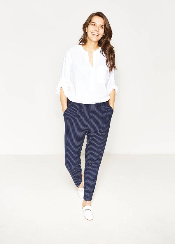 Pantaloni gessati a righe Curvy | OVS