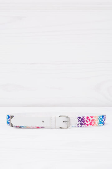 Animal print stretch belt, Multicolour, hi-res