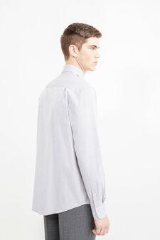 Regular-fit formal shirt in 100% cotton, Grey, hi-res
