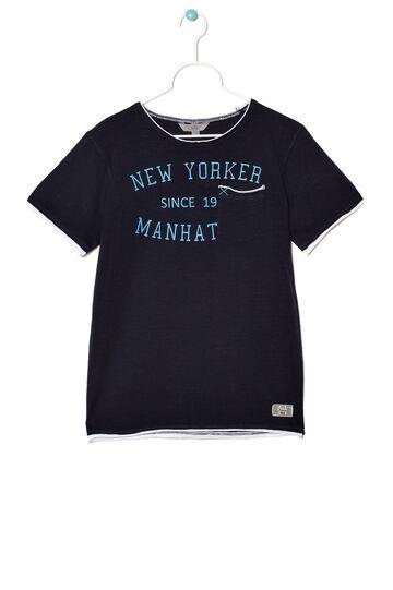 T-shirt con taschino, Blu scuro, hi-res