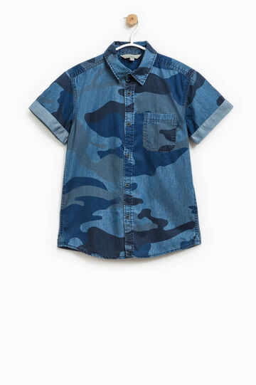 Camouflage shirt in cotton