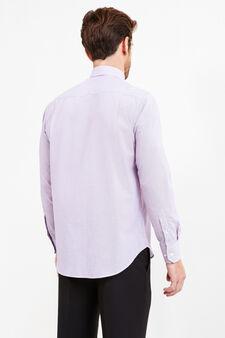 Regular-fit formal micro-striped shirt, Lilac, hi-res