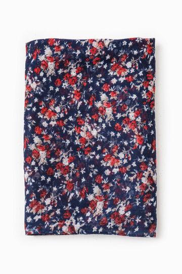 Floral print pashmina, Navy Blue, hi-res