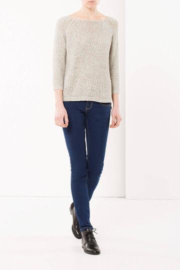 Melange knit jumper, Green, hi-res