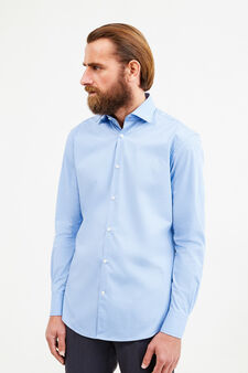 Cotton formal shirt with regular fit, Soft Blue, hi-res