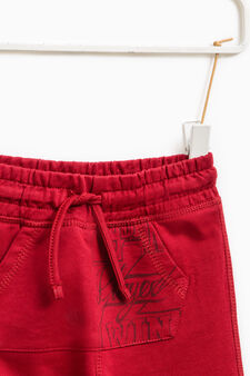Pantaloni tuta con tasca a marsupio, Rosso bordeaux, hi-res