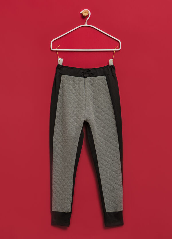 Pantaloni tuta cotone bande laterali | OVS