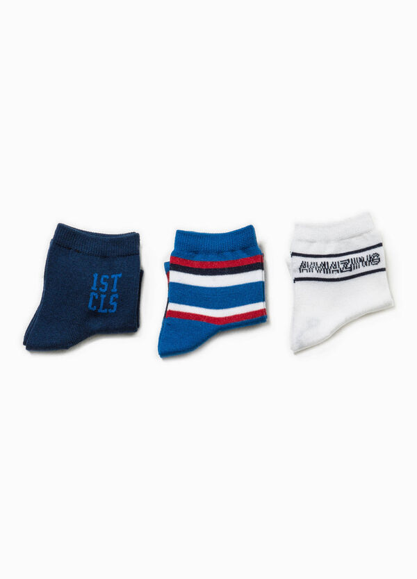 Set tre paia di calze ricami e righe | OVS