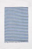 Sciarpa pura viscosa a righe, Bianco/Blu, hi-res