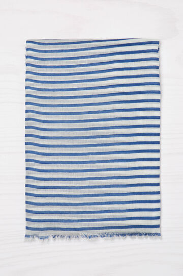 Striped scarf in 100% viscose