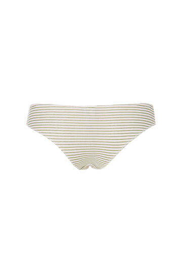 Slip cotone stretch con stampa, Bianco/Verde, hi-res