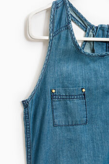 Denim playsuit with pockets, Denim, hi-res
