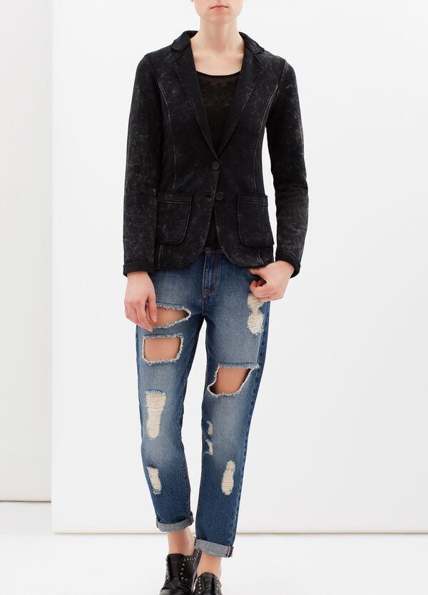 Worn-effect jacket in cotton blend | OVS