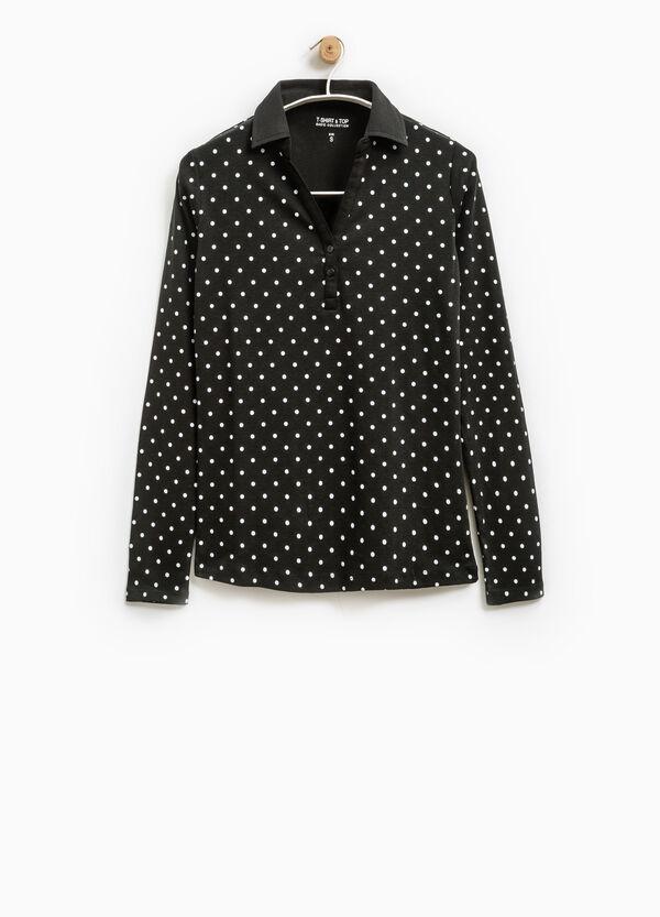 Smart Basic polka dot polo shirt | OVS