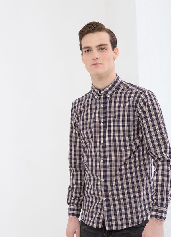 Tartan shirt with button-down collar | OVS