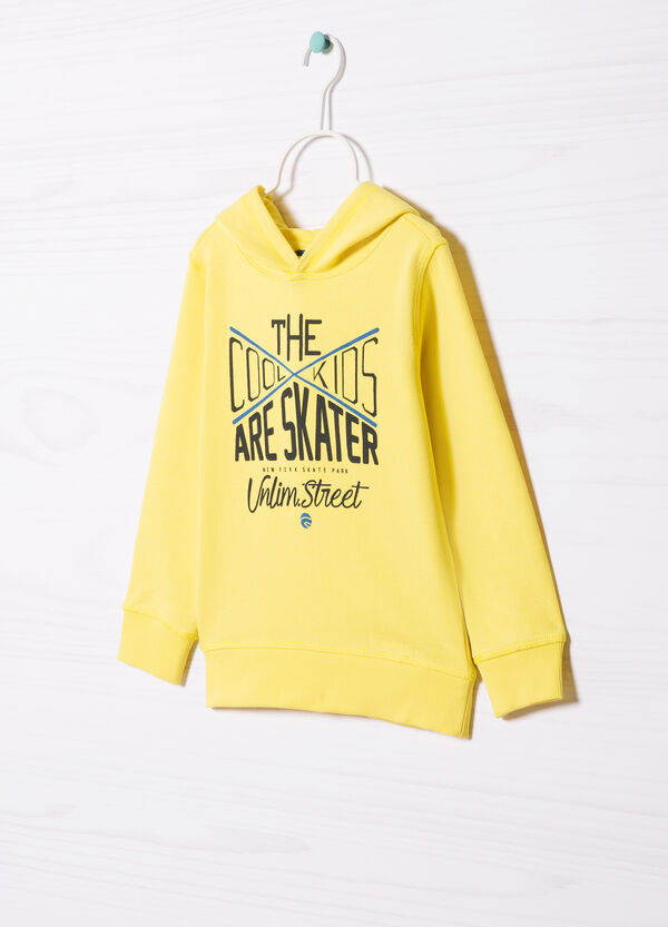 100% cotton hoodie with printed lettering | OVS