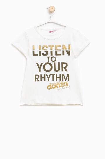 T-shirt stampa glitterata Dimensione Danza, Bianco, hi-res