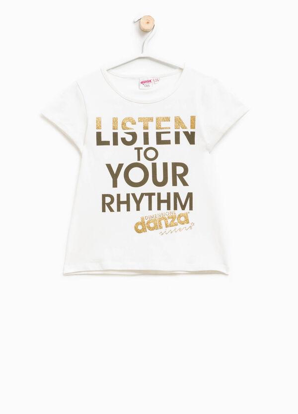 Camiseta con estampado con purpurina Dimensione Danza | OVS