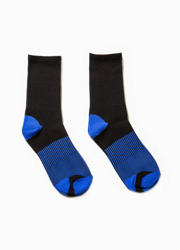 Two-pair pack long socks with embroidery | OVS