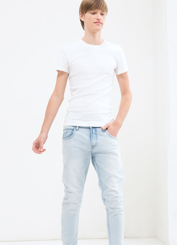 Jeans twisted fit stretch delavé | OVS