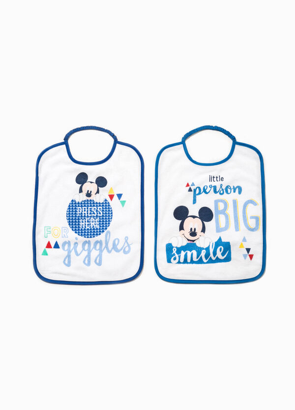 Two-pack bibs with Mickey Mouse print | OVS