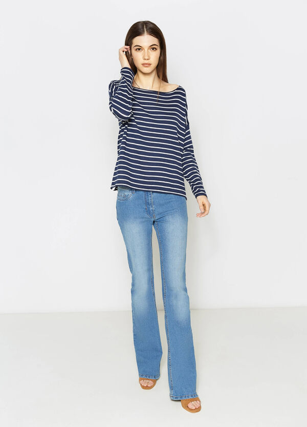 Striped pullover with boat neck | OVS