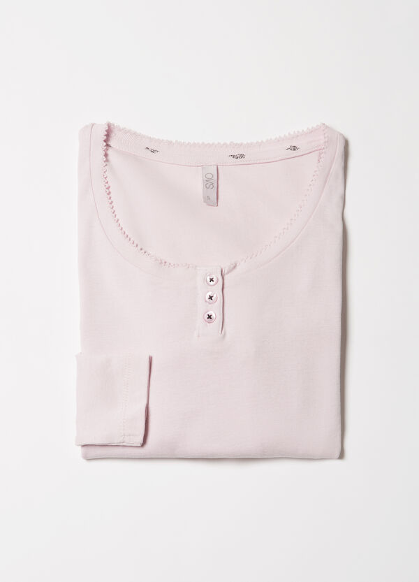 Solid colour cotton pyjama top | OVS