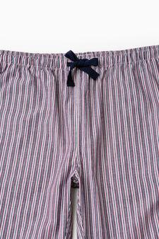 Cotton patterned pyjama trousers, Multicolour, hi-res