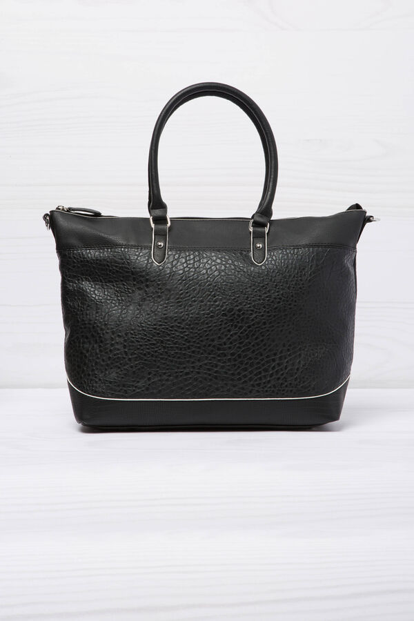 Leather look shopping bag | OVS