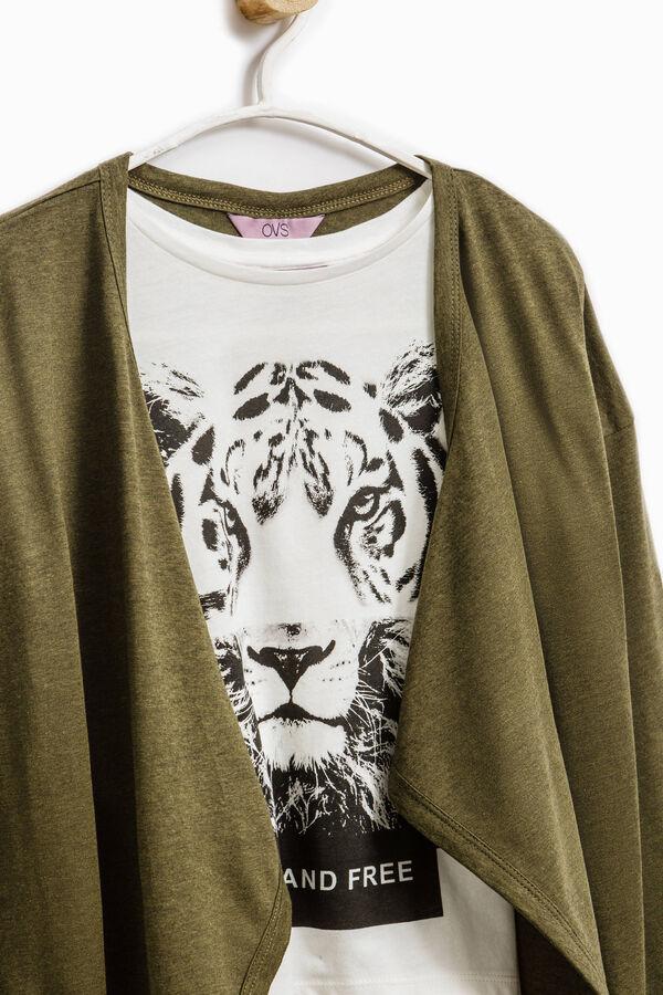 Conjunto de cárdigan y camiseta de algodón | OVS