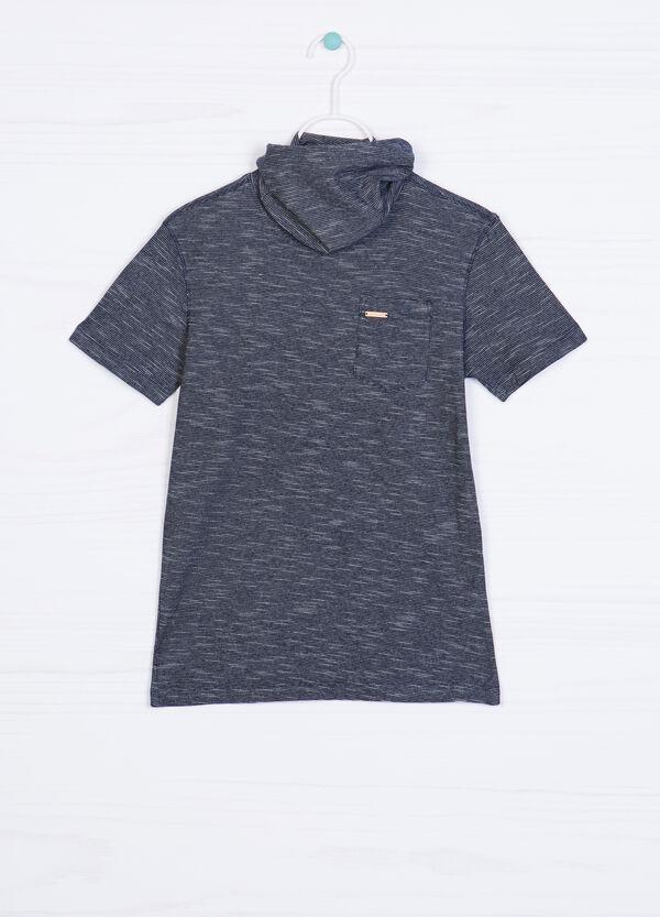 T-shirt puro cotone collo alto | OVS