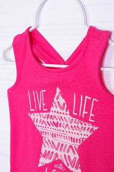 Stretch vest with crisscross straps, Fuchsia, hi-res