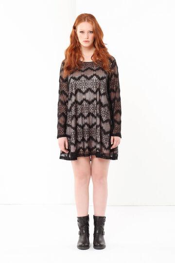 Curvyglam lace dress, Black/Pink, hi-res