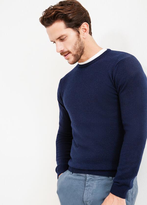 Crew neck pullover in silk and cashmere. | OVS